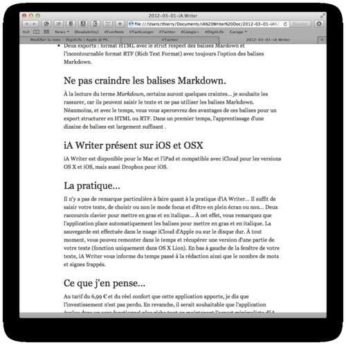 IA Writer 01 HTML