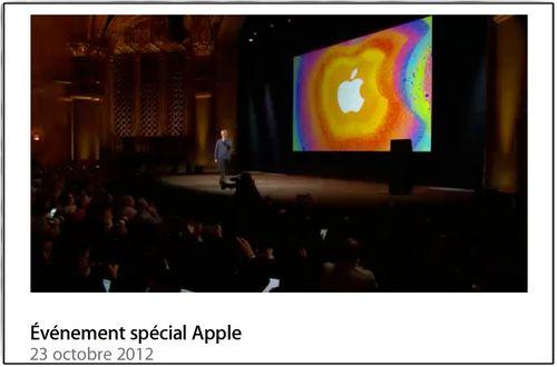 Apple 23 oct 2012